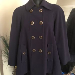 Forever New Navy Blue Swing Jacket Sz 6- 8